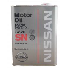 Nissan SN Extra Save X SAE 0W20 4л